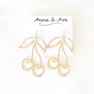 Anna & Ava Gold Cherry Earrings
